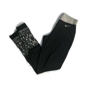 Nike Pro Womens Tights Yoga Stretch Pants Black